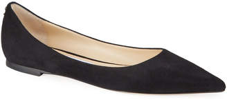 Jimmy Choo Love Suede Pointed Flats