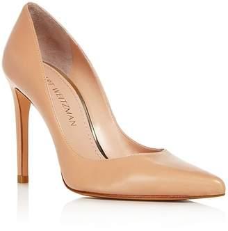 Stuart Weitzman Women's Curvia Leather High Heel Pumps