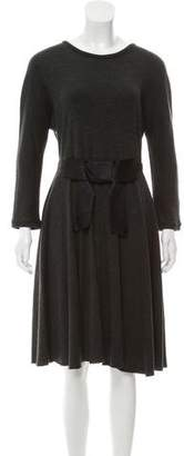 Lanvin Knee-Length Long Sleeve Dress