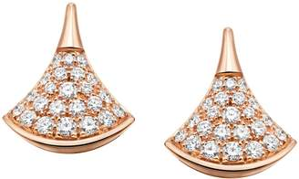 Bvlgari Rose Gold and Pave Diamond Divas' Dream Earrings
