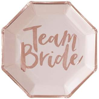 Ginger Ray Team Bride Rose Gold Plates - Set of 8