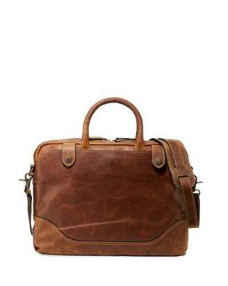 Frye Men's Logan Slim Leather Briefcase, Dark Brown