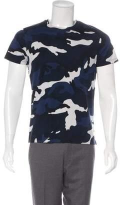Valentino Camouflage Crew Neck T-Shirt