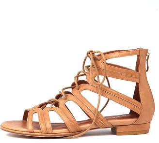 Django & Juliette Odessa Tan Sandals Womens Shoes Dress Sandals-flat Sandals