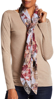 Collection XIIX Garden Skull Square Scarf $32 thestylecure.com