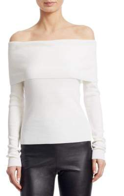 Ralph Lauren Iconic Style Off-The-Shoulder Cashmere Sweater