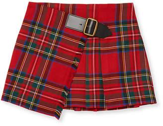 Burberry Plaid Wrap Skirt