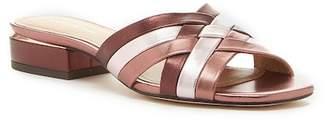 Pour La Victoire Malena Leather Slide Sandal