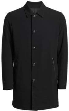 Saks Fifth Avenue COLLECTION Reversible Faux Leather Collar Topcoat