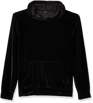 GUESS Men's Long Sleeve Velvet Hoodie