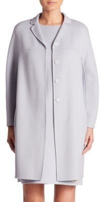 Max Mara Ada Double-Face Virgin Wool & Angora Coat $1,390 thestylecure.com