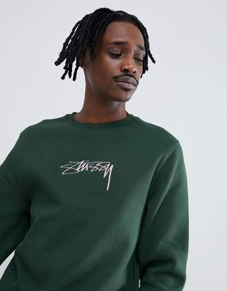 Stussy Sweatshirt With Applique Logo
