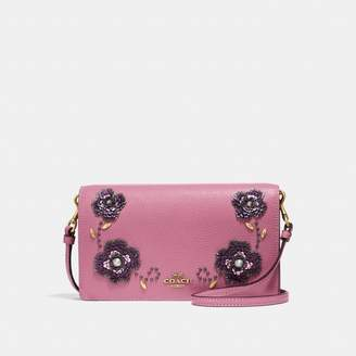 Coach Hayden Foldover Crossbody Clutch With Leather Sequin Applique