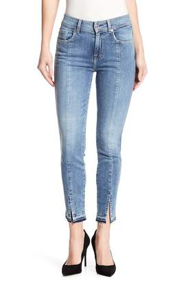 7 For All Mankind Skinny Ankle Front Slit Jeans