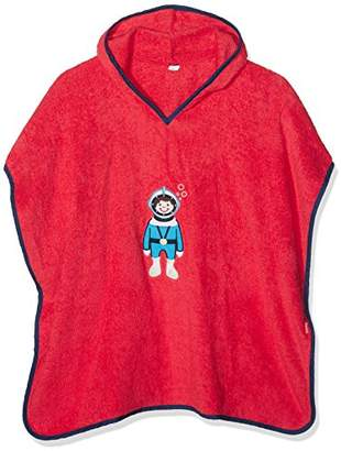 Playshoes Boy's Terry Bathing Poncho Hooded Diver Dressing Gown