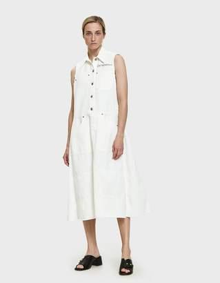 MM6 MAISON MARGIELA Frayed Denim Dress