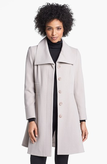 Helene Berman Wing Collar Wool Blend Coat