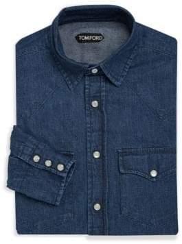 Tom Ford Classic Denim Dress Shirt