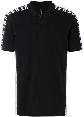 Versus shoulder logo polo shirt