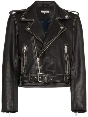 Ganni Angela Leather Biker Jacket