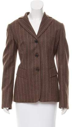 Kiton Pinstriped Wool Blazer