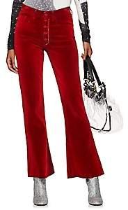 MM6 MAISON MARGIELA Women's Felt-Effect Flare Jeans - Red