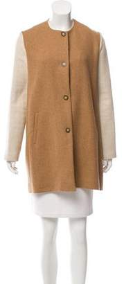 Paul & Joe Sister Two-Tone Knee-Length Jacket