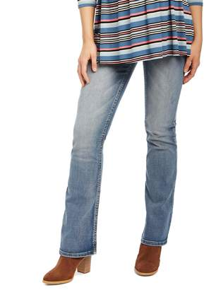 Motherhood Maternity Secret Fit Belly Stitched Pocket Bootcut Maternity Jeans- Dark Wash