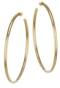 Jennifer Zeuner Jewelry Selene Goldplated Oversized Hoop Earrings