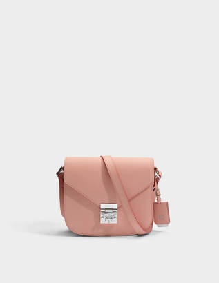 MCM Patricia Small Bag in Blush Pink Park Avenue Leather