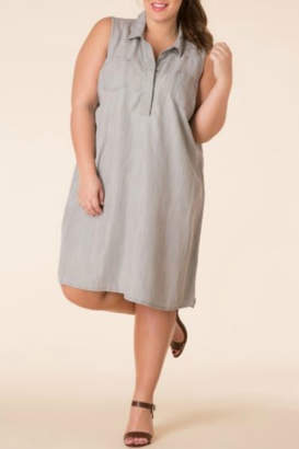 Yest Grey Denim Dress Tunic/Dress