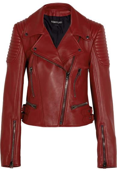 TOM FORD - Leather Biker Jacket - Red