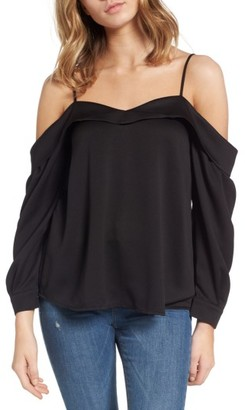 Women's Leith Satin Off The Shoulder Top $59 thestylecure.com