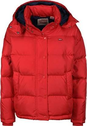 Levi's Women's Martina Puffer Jacket, (Chinese Red 0002)