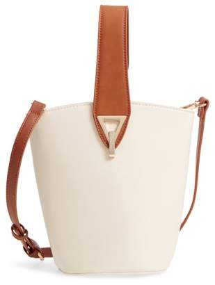 Street Level Top Handle Bucket Bag