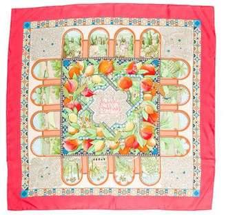 Hermes Les Jardins d'Andalousie Silk Scarf