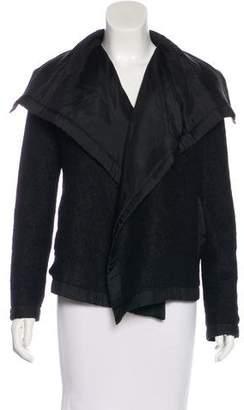 Lanvin Wool-Blend Open Front Jacket