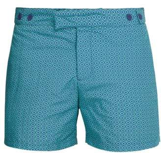 Frescobol Carioca - Angra Tailored Swim Shorts - Mens - Green Multi