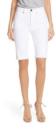 Frame Le Vintage High Waist Raw Edge Bermuda Shorts