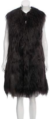 Miu Miu Long Goat Fur Vest