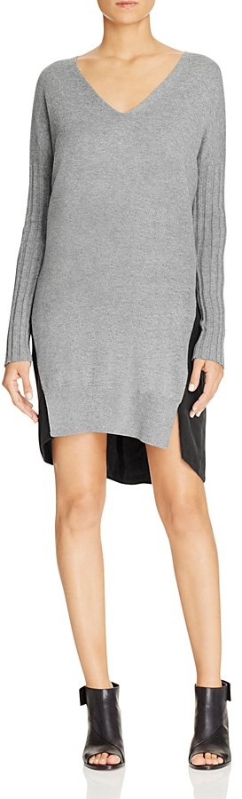 FRENCH CONNECTION Aries Mixed Media Sweater Dress