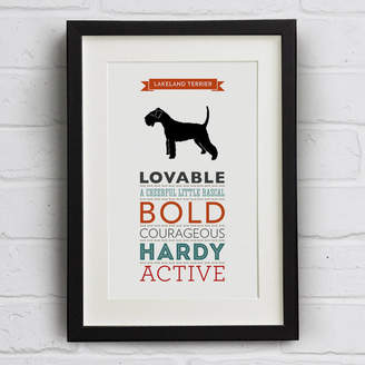 Breed Well Bred Design Lakeland Terrier Dog Traits Print