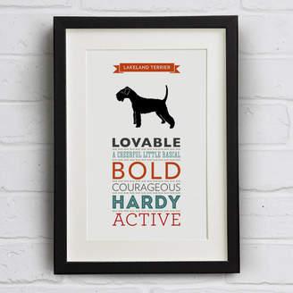 Breed Well Bred Design Lakeland Terrier Dog Traits Print