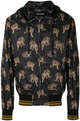 Dolce & Gabbana leopard print hooded jacket