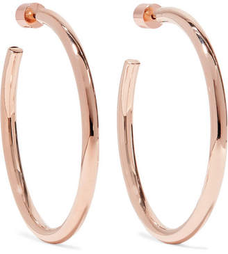 Jennifer Fisher Baby Clic Rose Gold Plated Hoop Earrings One Size