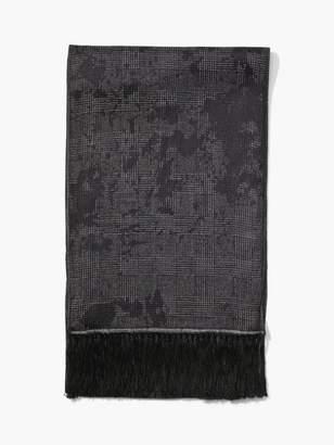 John Varvatos Crinkled Leopard Print Scarf
