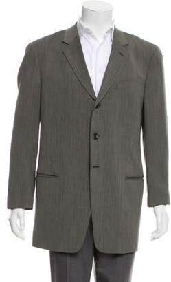 Armani Collezioni Tweed Three-Button Blazer