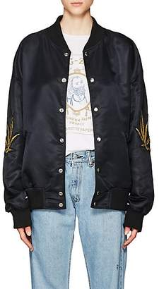 ADAPTATION Women's Appliquéd Satin Bomber Jacket