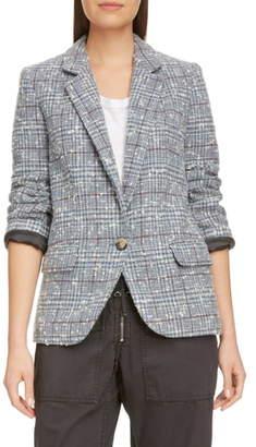 Etoile Isabel Marant Kice Glen Plaid Wool Blend Blazer