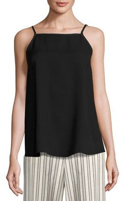 Lafayette 148 New York Taylor Sleeveless Double-Georgette Silk Blouse, Black $298 thestylecure.com